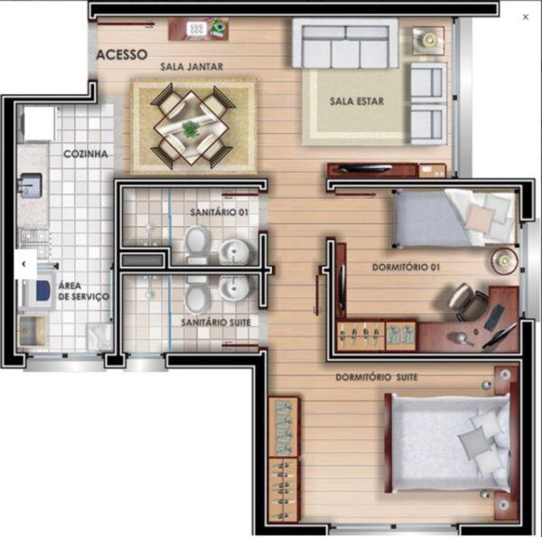 Vivvendas Do Sol - A - Apartamento 02 Dorm.