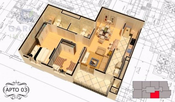 Grann Palazzio - Apartamento 02 Dorm.
